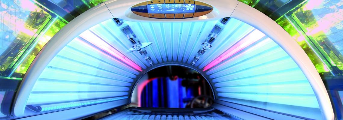 vista interior de un solarium horizontal